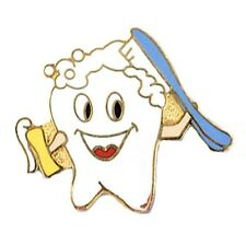 Smiley Tooth Lapel Pin Dental Dentist Hygienist Cap Tac Toothpaste Brush New