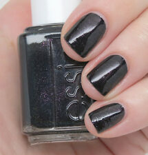 NEW Essie nail polish lacquer in HAUTE TUB ~ Jet black with amethyst fire