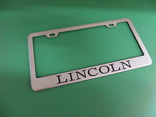 "(1pc)"" LINCOLN "" Stainless Steel license plate frame"