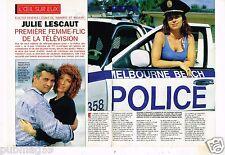 Coupure de presse Clipping 1993 (4 pages) Veronique Genest Julie Lescaut