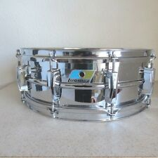 Ludwig 1969-72 CUT BADGE COB  5x14 Supraphonic Brass Snare Drum Player Grade