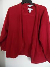 Dressbarn Woman open front CARDIGAN sweater & Tank Twin Set Sz 22/24