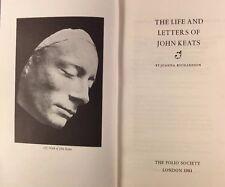 The Life & Letters of John Keats by Joanna Richardson - Folio Society - 1981