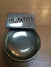 VINTAGE MATCHES HOLDER AND ASTRAY VESTA COMBO - SILVER PLATE ?