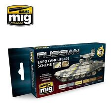 AMMO OF MIG RUSSIAN EXPO CAMOUFLAGE SCHEME COLORS SET Cod.AMIG7162