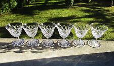 Six anciens verres à vin rouge en cristal de St Saint Louis en parfait état.