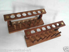 Lot Of 12 Wooden Test Tube Stand 6 Hole With Drying Rack Vintage Lab Equipment