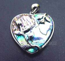 SALE Big 30*40mm Heart Natural Blue Multicolor abalone shell pendant -pen85