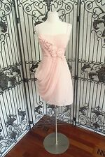 A837 BCBG IL6M309 PETAL PINK $335 COCKTAIL PARTY HOMECOMING GOWN DRESS