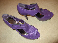 """New look Purple High Heels 5""""  with 1"""" Platform and TBar Size  6 Euro 39"""