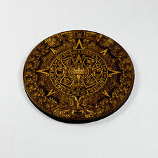 Mayan Calendar Wood Coaster/Disc - Raw wood