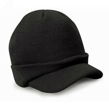 Men Warm Baggy Crochet Visor Brim Beanie Ski Cap Baggy Oversized Knit Skull Hat