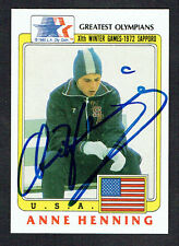 Anne Henning #72 signed autograph auto 1983 Topps Greatest Olympians Card