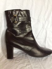 Clarks Black Leather Ankle Boots Size 8