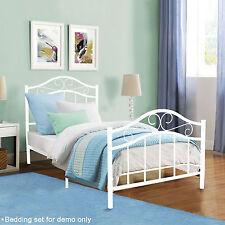 Platform Metal Twin Size Bed Frame Mattress Foundation Bedroom Steel Furnitur