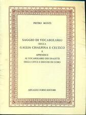 SAGGIO DI VOCABOLARIO DELLA GALLIA CISALPINA E CELTICO DIZIONARI/ENCICLOPEDIE