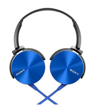 Sony MDR-XB450 On-Ear Extra Bass(XB) Headphone Blue+3 Months Seller Warranty
