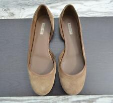 Auth BOTTEGA VENETA Suede Perforated Ballet Flats Brown Loafers Sz 40 Slip Ons