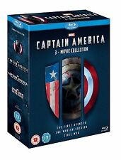 CAPTAIN AMERICA 3-Movie Collection [Blu-ray Box Set] Complete Trilogy Films 1-3