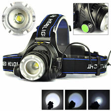 CREE XM-L T6 LED 2000LM Rechargeable Headlamp Headlight Light Head Lamp Torch