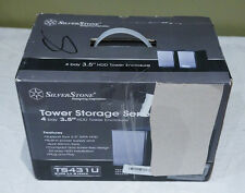 "SILVERSTONE TOWER STORAGE BLACK 4 BAY 3.5"" HDD TOWER ENCLOSURE TS431U"