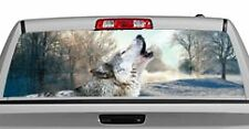 Truck Rear Window Decal Graphic [Wolves / Winter's Wolf] 20x65in DC52504