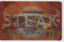 """Steak N Shake """"Famous For Steakburgers"""" Lenticular Red Gift Card Collectible"""