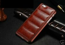 Luxury Case For Apple iPhone 6 4.7 Pu Leather stripe Back Cover Brown