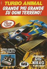 X4172 GIG NIKKO Turbo Animal - Pubblicità 1991 - Advertising