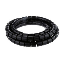 Black 2m 20mm PE Cable Tidy Wire Storage Cable Organizer Spiral Zip Wrap
