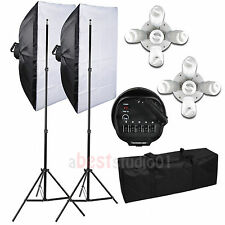 2250W Photo Studio Video Continuous Lighting Kit Photography Softbox Light Stand
