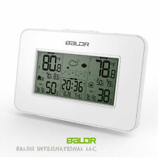 Baldr LCD Weather Station Alarm Clock Outdoor Humidity Temperature Backlight