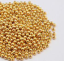 100 pcs gold plated metal ball plunger beads 6mm