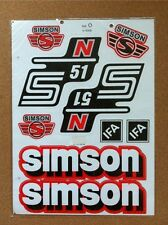 SIMSON S51 N STICKER SET- RED