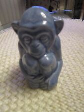 Rookwood Pottery 1996 Blue Monkey #6084 Paperweight Ltd Ed 44 of 500