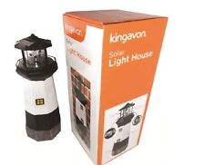 LARGE SOLAR POWERED LIGHT HOUSE LED BULB ROTATING GARDEN ORNAMENT LIGHTHOUSE 546