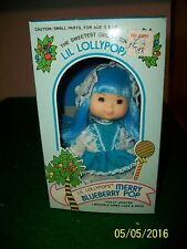 """Lil Lollypops 5.5"""" Doll  Merry Blueberry Pop in Box Strawberry Shortcake Clone"""