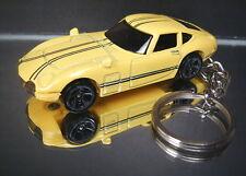 Yellow Toyota 2000 GT Diecast Custom 3D Key Chain Ring Fob
