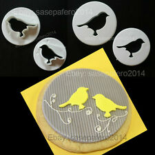 Bird plastic cutters for fondant, marzipan. 2 pcs. set .Cortador de pajaritos