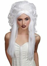Mesdames long white spirit perruque spectral Ghost accessoire robe fantaisie