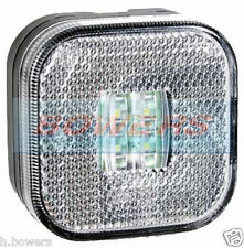 12V/24V SQUARE WHITE LED FRONT MARKER/POSITION LAMP/LIGHT TRUCK LORRY TRAILER