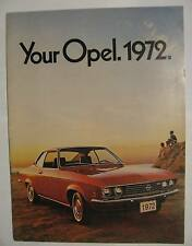1972 Opel Full Line Sales Brochure ~ Sold by Buick