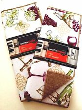 Wine Dish Drying Mats Reversible 2-PC By Master Cuisine Kitchen Counter 71159