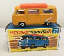 """MATCHBOX LESNEY 1970 SUPERFAST #23 """"VOLKSWAGON CAMPER"""" with box -  mint  c"""