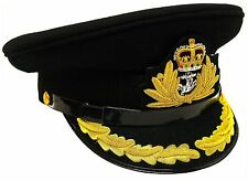 BRAND NEW ROYAL NAVY OFFICER HAT CAP CAPTAIN ( BLACK ) Size 60