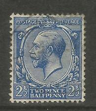 Great Britain 1912-13 King George V 2 1/2p ultramarine (163) fine used