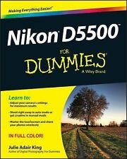 Nikon D5500 for Dummies by Julie Adair King (2015, Paperback)