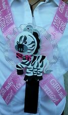 1 Baby Shower Party  MOM TO BE SASH Zebra,Pink /Girl, Ribbon favors ,Mother,gift