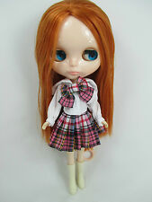 Blythe Doll Outfit school uniform style Clothes Basaak shirt and skirt #743-2