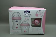 NIB - Pink Girl Chicco Stage 1  Gift Set Blue Feeding Set 0M+  Baby Bottle